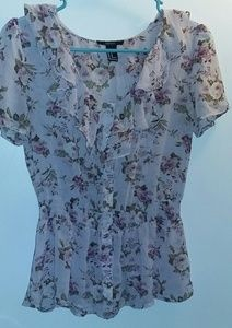 Forever 21 Semi-Sheet Floral Top